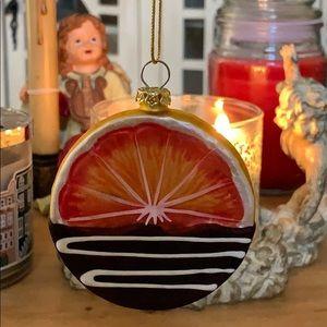 blood orange 🍊 Christmas tree ornament Vtg